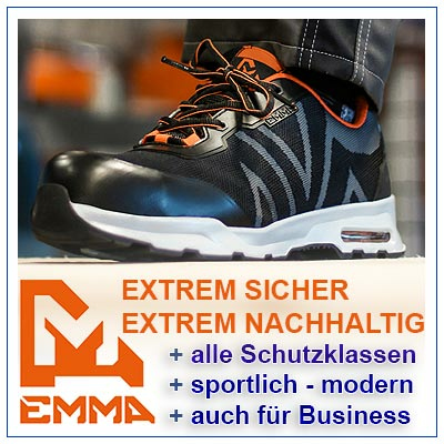 Sicherheitsschuhe von EMMA kaufen Sie in unserem Online Shop oder im Geschäft Mühldorf in den Schutzklassen: S3, S2, S1, S1P