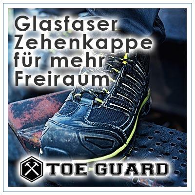 TOE GUARD Sicherheitsschuhe werden den höchsten Sicherheitsansprüchen gerecht, mit metallfreier Zehenschutzkappe / Zehenschutz aus NANO Carbon