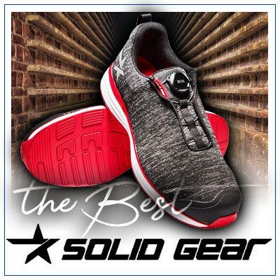 Sicherheitsschuhe von SOLID GEAR, modern, sportlich mit hervorragenden Trageeigenschaften. Zu kaufen im Shop von Scherr Fachhandel